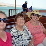 Enjoying the boat ride on the Sea of Galilee